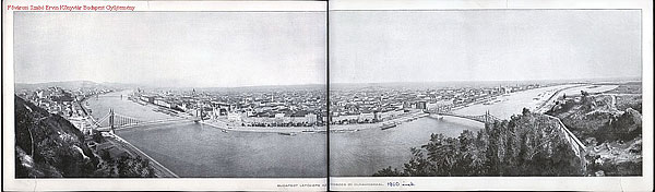 Budapest panorama by Bela Varga from 1900