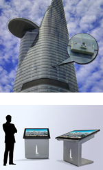 High resolution panoramic images for Bitexco Financial Tower Touch Screen application